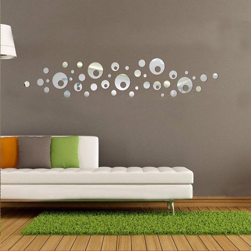 nueva venta caliente diy d espejo pegatinas de pared de acrlico decorativo de gran crculo