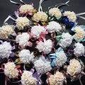 Свадебные украшения свадебная роуз Наручные Корсажи Ручной Цветок шелковый Шнурок Пенополиэтилен Искусственные цветы Невесты Невесты запястье цветок рождество