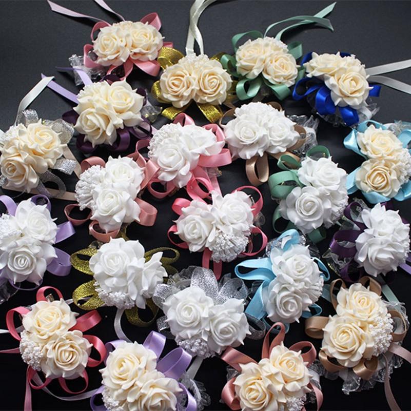 24 Crème Colourfast ROSES-diamètre 6.5 cm-mariages//wholesale