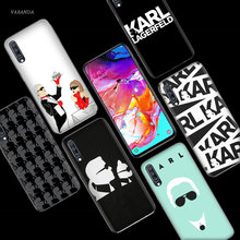 Karl Lagerfeld Case for Samsung Galaxy A50 A70 A80 A60 A40 A30 A20 A10 M30 M20 M10 A6 A8 Plus a5 A7 A9 2018 TPU Capa Tampa Do Telefone(China)