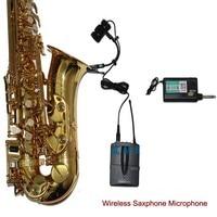 Saxophone Wireless Microphone System Professional Saxe orchestra trumpet gooseneck Condenser Cordless Musical Instrument Audio