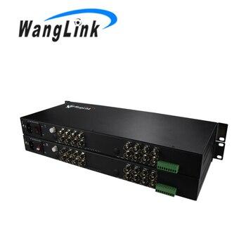 16 Ch HD 1080 P AHD CVI Video con inversa RS485 los datos de video transceptor óptico