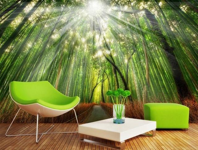 Wallpaper Scenery For Walls Custom Background Wallpapers Bamboo Grove Wall Murals Bathroom