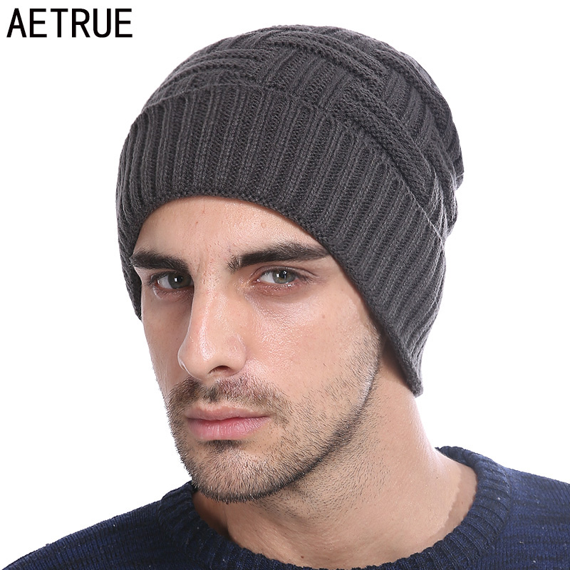 Online Shop AETRUE Winter Beanie Knitted Hat Men Women Bonnet Fashion Caps  Skullies Beanies Solid Mask Cap Warm Winter Hats For Men Hat 2018  c51941a324bc
