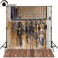 Allenjoy Photographic Background Wood Harness Horse Stables Newborn Vinyl Backdrops Lovely Princess Baby Shower Custom
