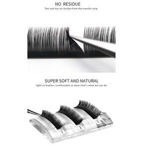Image 4 - 10 bandejas individuais cílios cílios cílios cílios cílios volume de seda macia cílios feitos à mão para maquiagem