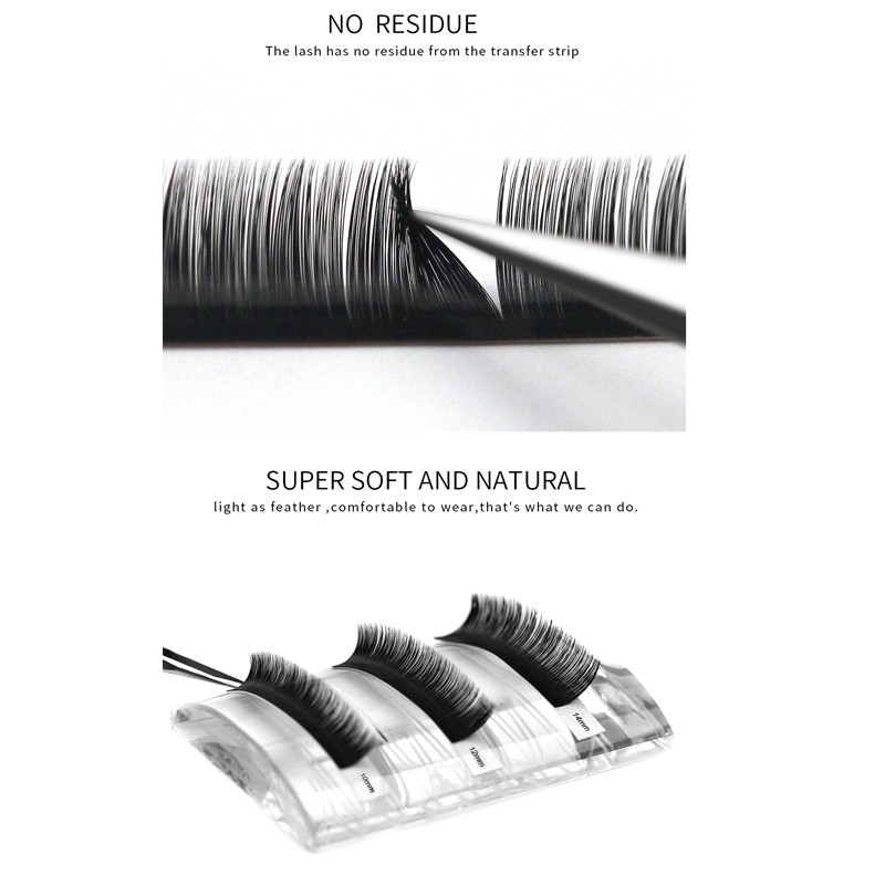 10Pcs 3D Russian Eyelash Extension Individual Natural Korea Silk Volume Premium Eyelash HandMade Eye Lashes Makeup Professional in False Eyelashes from Beauty Health