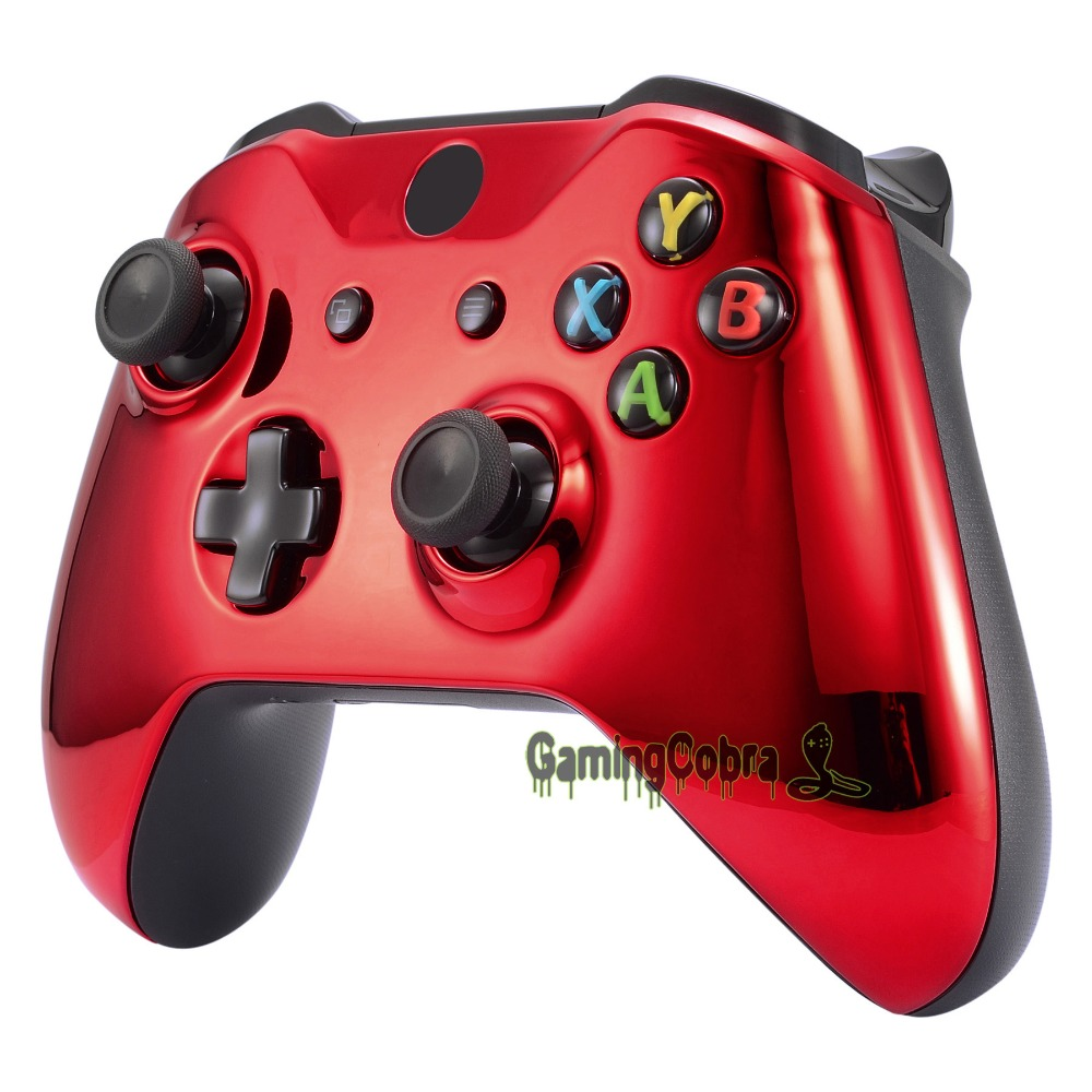Chrome Red Edition Front Housing Shell Faceplate For Xbox One S X Controller SXOFD03 In Cases From Consumer Electronics On Aliexpress