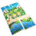 6pcs/set Puzzle Mat 60*60 *2CM Baby Crawling Mat Animal Automotive+Ocean EVA Foam Playmat Developing Mat Baby Crawling Mat