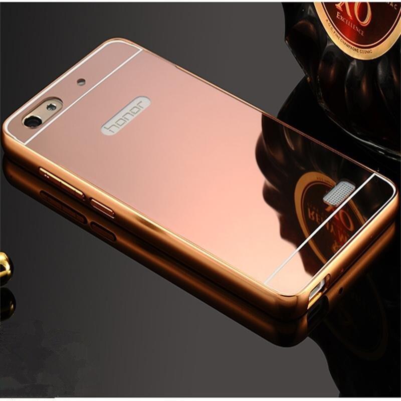 Xinchentech pro Huawei Honor 4C / G Play Mini Pouzdro Luxury Mirror Metal + Pevný zadní kryt Capa pro Honor4C / CHM-U01 / CHC-U01 / C8818