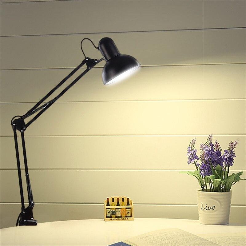 Geruite Schreibtischlampe Flexiblen Led Lampe Büro Führte Tischleuchte Metall Architekten Verstellbare Falten Leselicht Lampen & Schirme Licht & Beleuchtung