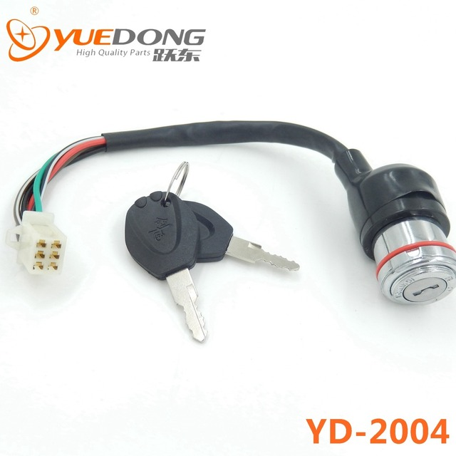 GN125 Zinc Ignition Switch 2pcs key 6 wire Ignition lock for dirt ...