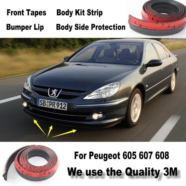 car bumper lips for peugeot 605 607 608 front spoiler deflector body kit strip skirt. Black Bedroom Furniture Sets. Home Design Ideas