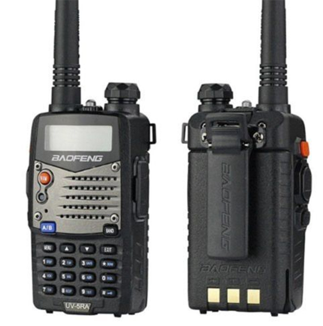 2pcs/lot walk talk Baofeng UV-5RA For Police Walkie Talkies Scanner Radio Vhf Uhf Dual Band Cb Ham Radio Transceiver 136-174