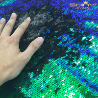 1 Yard Hot Sell Green Sequin Fabric Sparkly Embrodiery Mesh Lace Sequin Fabric Sequin Fabric For