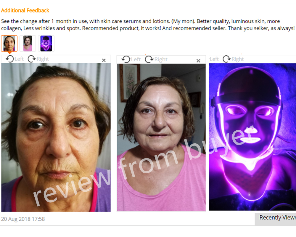 Foreverlily 7 Couleurs led masque facial led Coréenne Photon thérapie visage machine à masques Luminothérapie Acné Masque Cou Beauté masque led - 6