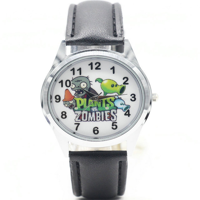 1pcs cute kid Wristwatch watch with Plants VS Zombies shoe charms kid party gift