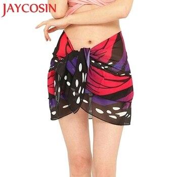 JAYCOSIN Women's Fashion Summer Chiffon Sunscreen Shawl Beach Bikini Swimwear Wrap Coverup Skirt Swimsuit Free shipping 30P