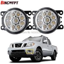 2x Car Exterior Accessories H11 LED Fog Lamps Front Bumper Lights For NISSAN Navara D40 Note E11 Pathfinder R51 Pixo UA0