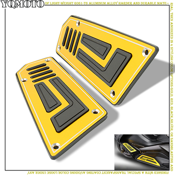 Motorcycle Footboard Steps Motorbike footrest pegs plate pads For YAMAHA TMAX530 TMAX 530 T-MAX 530 tmax 2012 2013 2014 2015-16