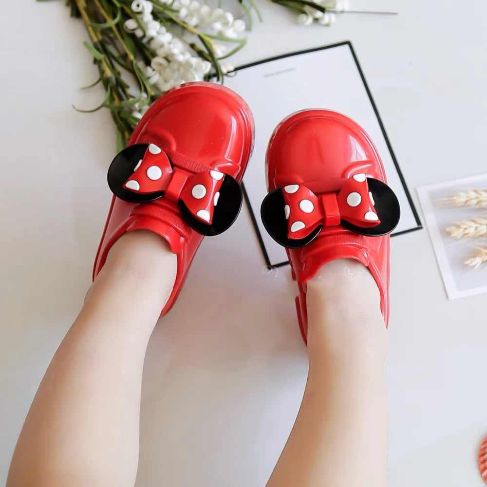 25b60fbbd04e72 ... Mini Melissa Girl sandals New Mickey Bowknot Casual Girl Single Shoes  Candy Fruit Jelly Shoes Waterproof ...