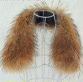 Зима 100% Реальных Природных Енотовидная Собака Меховой Воротник Новый Стиль Пальто женщин Шарфы Воротник Элегантной Роскоши Енот Меховой Воротник Женский V656