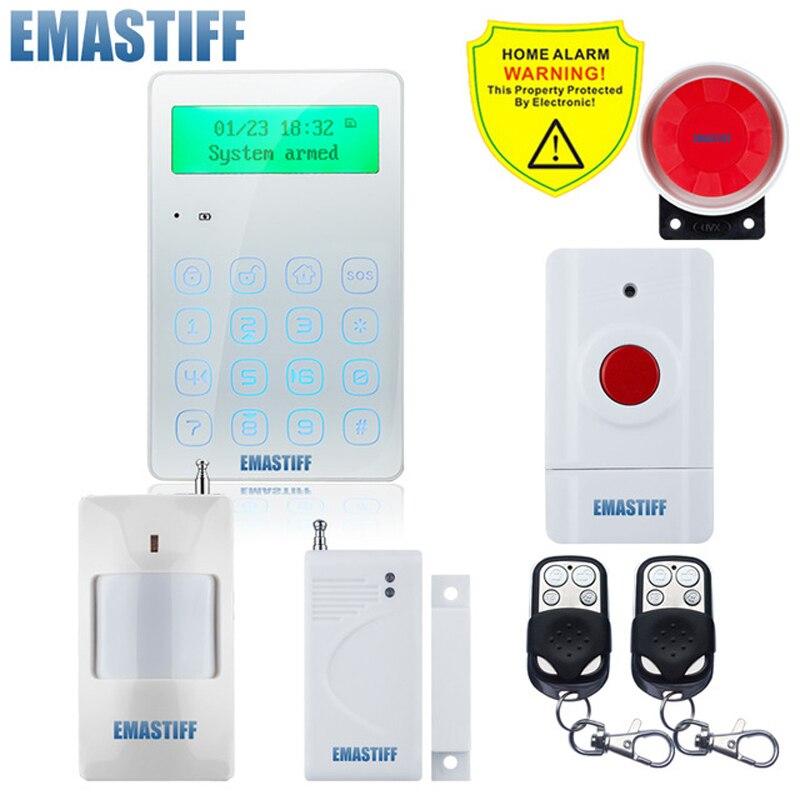 Alarm System Kits Gsm Wireless Home Business Einbrecher Sicherheit Alarm System App Steuer Sirene Motion Detektor Pir Rauch Sensor Sicherheitsalarm