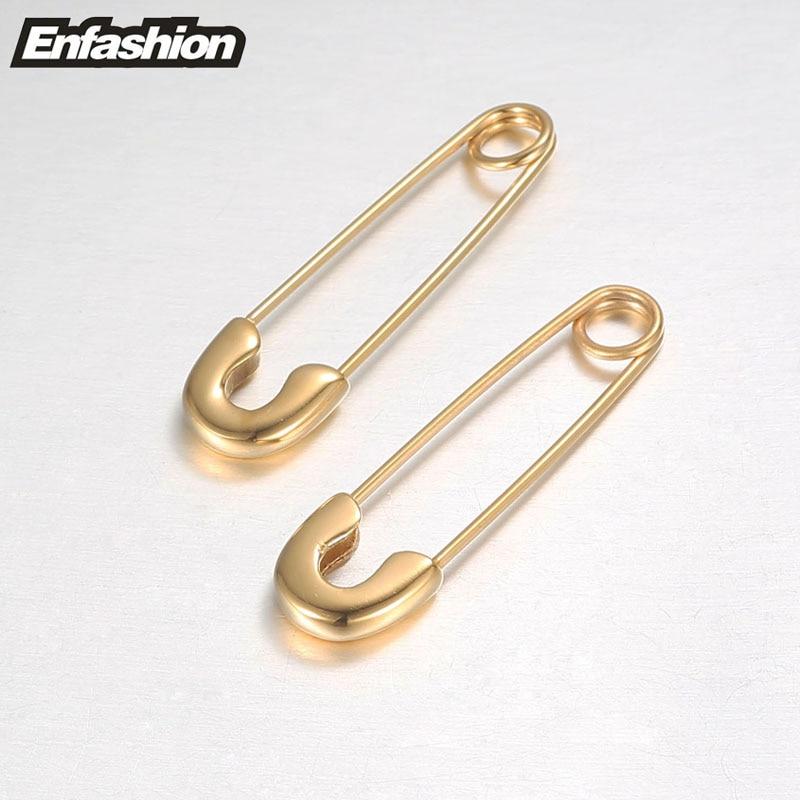 Fashion Safety Pin Long kõrvarõngad roosa kuldvärv kõrvarõngad - Mood ehteid - Foto 5