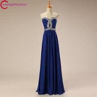 Evening Dress Chiffon Long Luxury Crystal Strapless Sexy Prom Dress High Quality Banquet Formal Dress