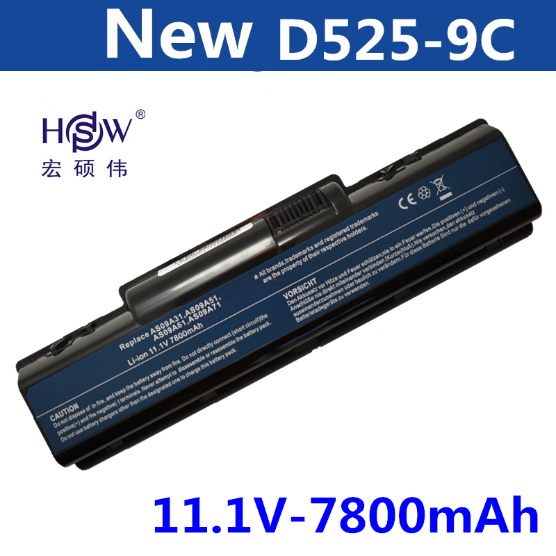 HSW 7800MAH 9cells Laptop Battery For Acer EMACHINES E525 E627 E725 D525 D725 G620 G627 G725 E627-5019 AS09A31 AS09A41 AS09A51 brand designer large capacity ladies brown black beige casual tote shoulder bag handbags for women lady female bolsa feminina page 1