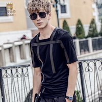 FanZhuan Free Shipping New Fashion Casual Men S Male 2017 Short Sleeved Personality Tshirt Geometric Pattern