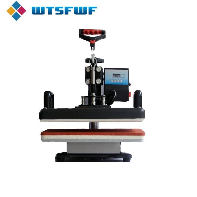 Freeshipping Wtsfwf 30*38CM 8 in 1 Combo Heat Press Machine 2D Thermal Transfer Printer for Cap Mug Plate T shirts Printing - 3