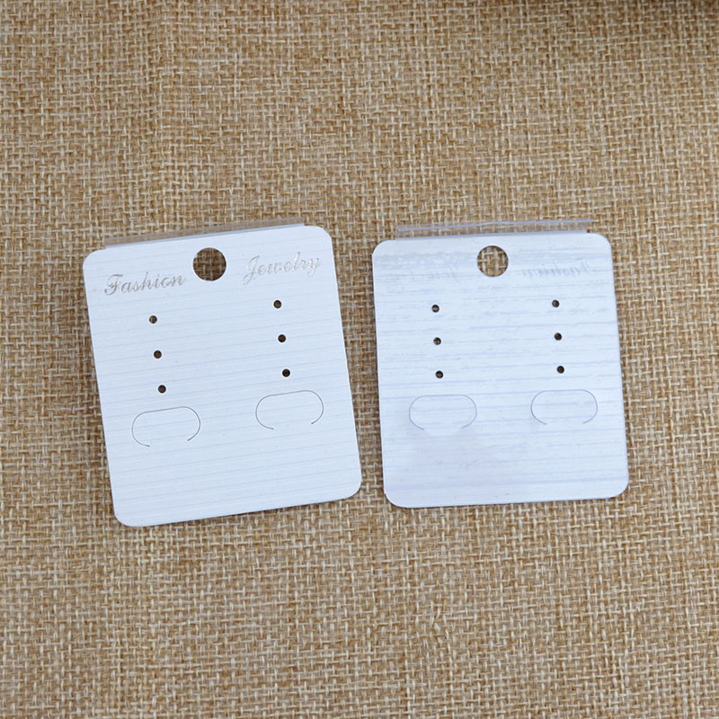 Ear Studs White 2 x 2 Inches 200-Pack Hanging Earring Card Holder Paper Jewelry Display Cards for Earrings Earring Cards