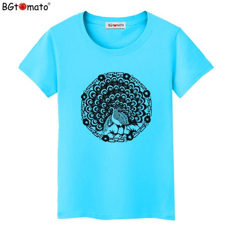 Bgtomato новый стиль Красивая Павлин AR футболка новый топ тройники Распродажа футболка женская брендовая одежда Лидер продаж футболка