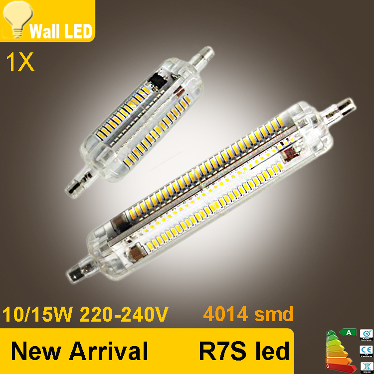 Newest r7s led lamp 10w 15w smd4014 78mm 118mm led r7s for Led r7s 78mm osram