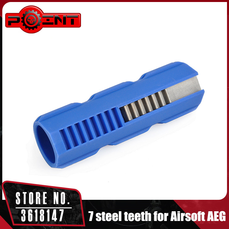 Point Fibre Reinforced Carbon Piston 7 Steel Teeth for Airsoft AEG Gearbox Ver 2/3 Huting Accessory PO03016