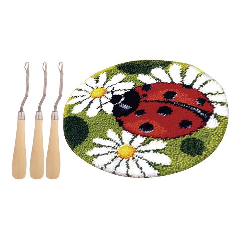 Handmade Ladybug Latch Hook Craft Kits