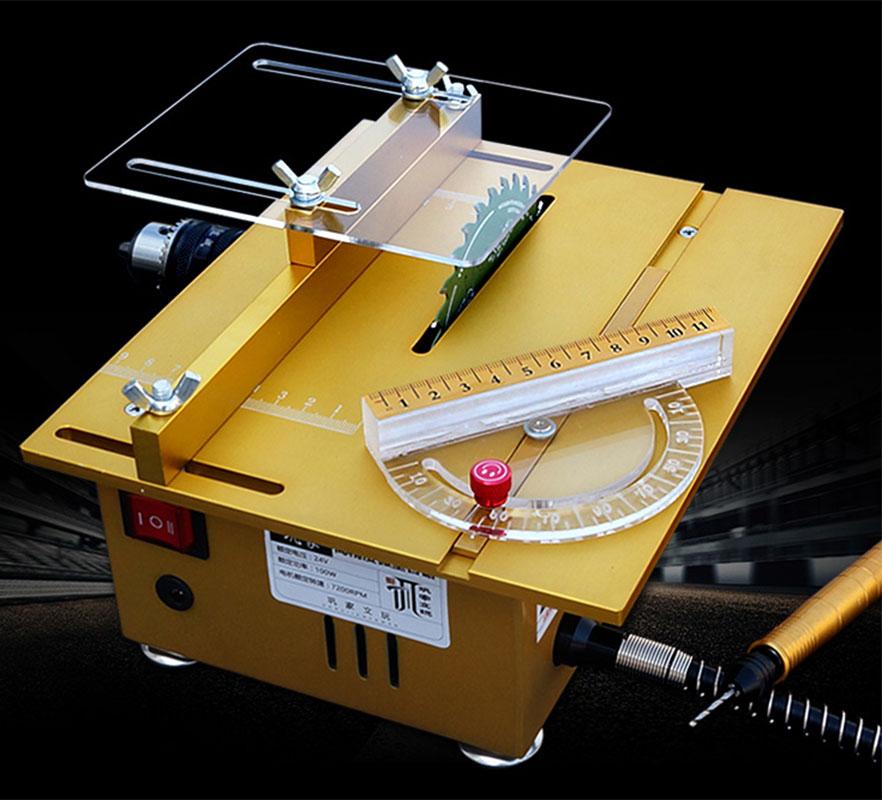 Mini mini banc scie bricolage scie à bois précision modèle scie multi-fonction petite machine de découpe