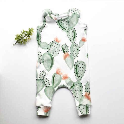 Боди для новорожденных мальчиков и девочек с рисунком кактуса; комбинезон; одежда