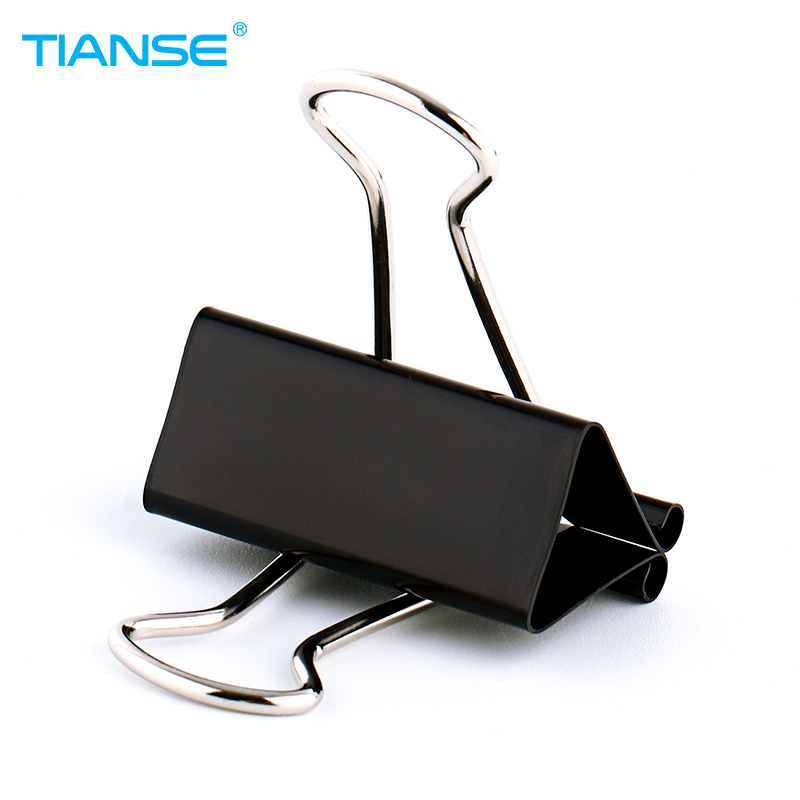 TIANSE Black Color Metal Binder Clip For Document Holder