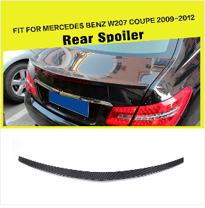 Углеродного волокна/frp зад бампер диффузор спойлер для Mercedes-Benz e-класс W207 C207 E63 AMG купе Contertible 2009-2012