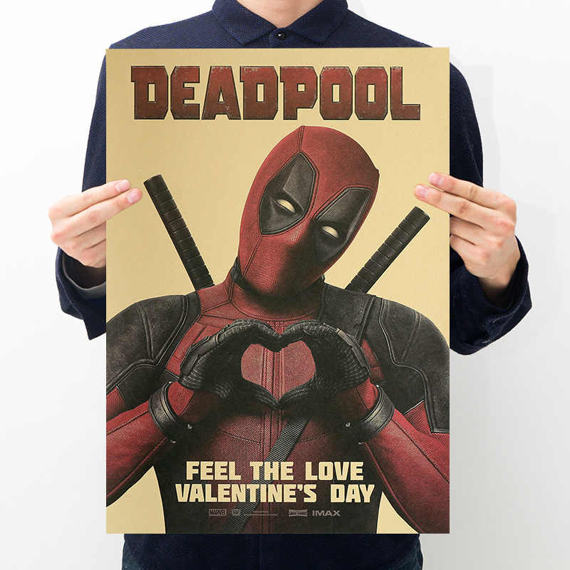 Marvel Deadpool Action Figures Poster Adesivi giocattoli per Adulti 2019 Nuovo Marvel Deadpool Figurine Poster Sticker Rifornimento Del Partito