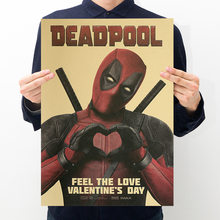 Marvel Deadpool Action Figures Posters Stickers toys for Adults 2019 New Marvel Deadpool Figurines Posters Sticker Party Supply(China)