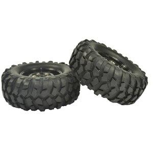 Image 5 - 4PCS 96mm Tyre RC 1/10 Off Road Car Beach Rock Crawler Tires Wheels Rim