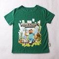 New kids chegada do verão t-shirts t-shirt da menina de natal verde meninos e meninas de manga curta t-shirt partes superiores das meninas para 2-14 anos