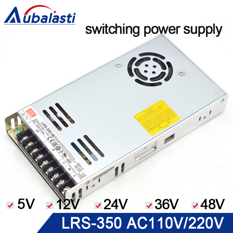 Alimentation d'énergie de commutation de LRS-350 d'alimentation d'énergie de meanwell DC 5 V 12 V 24 V 36 V 48 V utilisation d'alimentation pour la machine de gravure de routeur de CNC