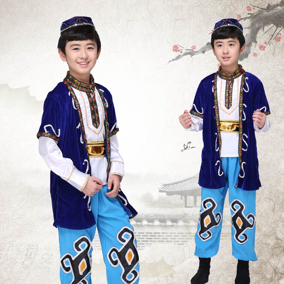 a09ee58aeb53 6 PCS Enfants Tibétain Danse Costume National Chinois Danse Mongolie  Costumes De Danse Vêtements Stage Dancer Porter pour Performance18