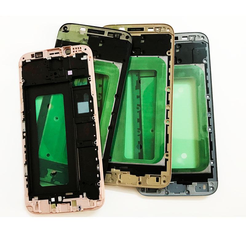 5 Pcs/Lot, New Original Front Bezel For Samsung Galaxy J7 2017 J730 Screen LCD Supporting Middle Frame Front Bezel Housing