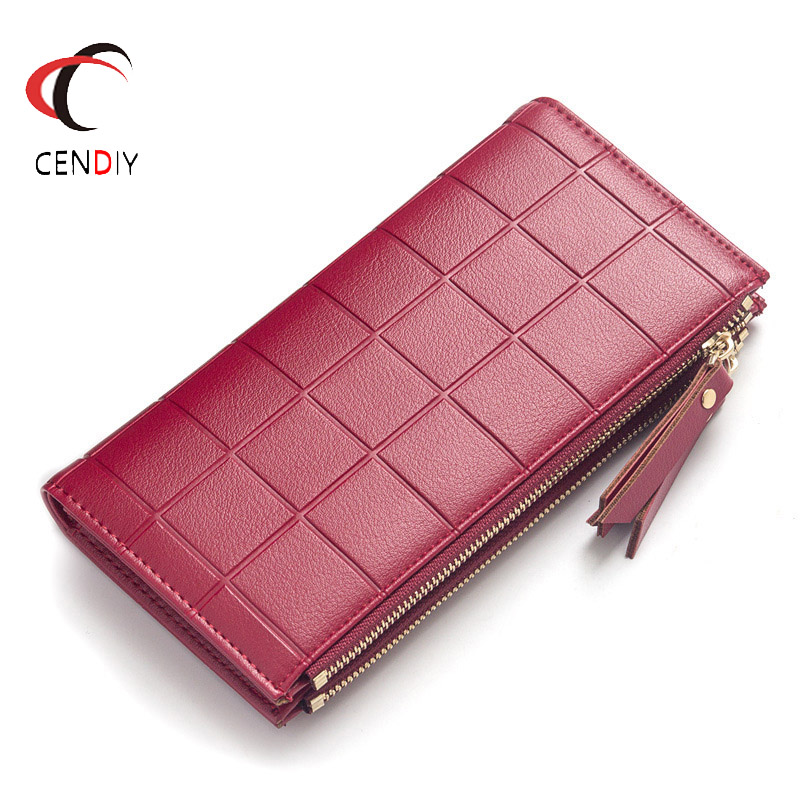 Women PU Leather Clutch Long Wallet Card Holder Purse Handbag Envelope Bag TR