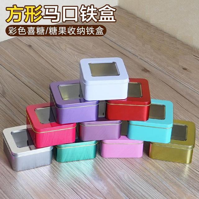 square tin skylight box( golden/silver/light purple). candy, chocolate, biscuit box(customization, printing)